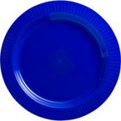 Royal Blue Premium Plastic Dinner Plates 16ct