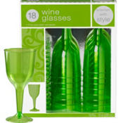 Kiwi Premium Plastic Wine Glasses 18ct