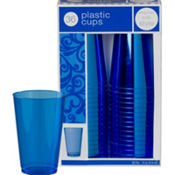 Royal Blue Premium Plastic Tumblers 36ct