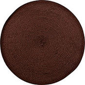 Chocolate Brown Round Placemat 14in