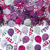 Party Balloons Pink Confetti 2 1/2oz
