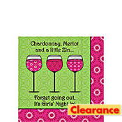Three Wine Beverage Napkins