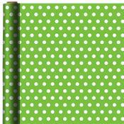 Jumbo Kiwi Polka Dot Gift Wrap
