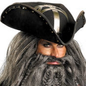 Blackbeard Pirate Hat Deluxe