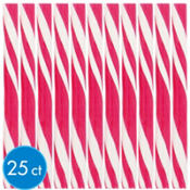 Bright Pink Candy Sticks 25ct