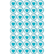 Robin's Egg Blue Heart Sweets Candy 40ct