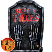 Light-Up Skeleton Hands Tombstone Decoration 22in