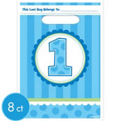 Boy 1st Birthday Favor Bags 8ct