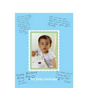 Boys 1st Birthday Autograph Photo Frame