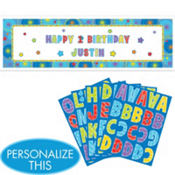 Personalized One-derful Boy 1st Birthday Banner