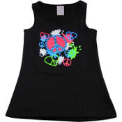 Neon Peace And Love Graphic Tank