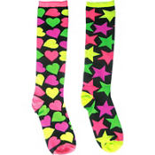 Mismatch Rock Knee High Socks