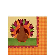 Turkey Dinner Beverage Napkins 36ct