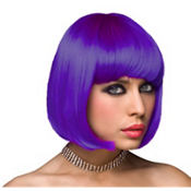 Neon Purple Gaga Wig
