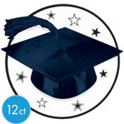 White Graduation Cutouts 8in 12ct
