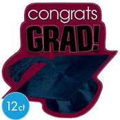 Berry Congrats Grad Graduation Cutouts 10 1/2in 12ct