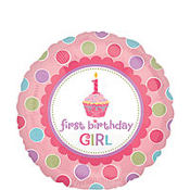Foil Lil Cupcake Girl Balloon 18in