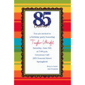 A Year to Celebrate 85 Custom Invitation