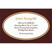 Chocolate Border Custom Invitation