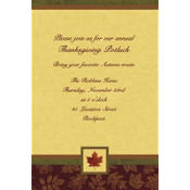 Fall Elegance Custom Invitation