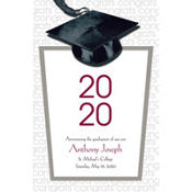 White Congrats Grad Custom Graduation Announcement
