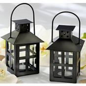 Black Mini-Lantern Wedding Favor