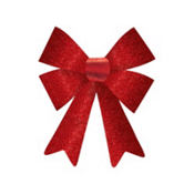 Red Glitter Bow 12in x 8in