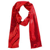 Red Sequin Scarf 60in