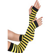 Black and Yellow Striped Arm Warmers