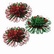 Christmas Firework Bows 5in x 5in x 2in 3ct