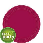 Eco Friendly Raspberry Round Paper Dessert Plates 24ct