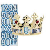 Gold Happy Birthday Personalized Crown