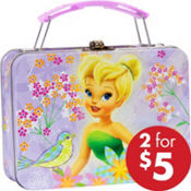 Tinker Bell Metal Mini Lunch Box 5 1/2in x 4in