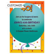 Life is Great 40 Custom Invitation