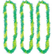St. Patricks Day Two-Tone Fringe Leis 34in 3ct