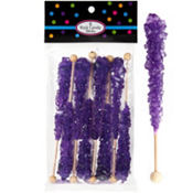 Purple Rock Candy Sticks 8pc