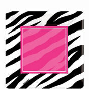 Zebra Party Dessert Plates 8ct