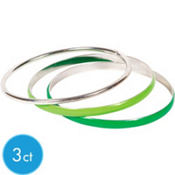 Silver and Green Bangles 3ct