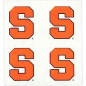 Syracuse Orange Face Tattoos 4ct