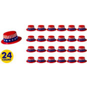 Patriotic Mini Top Hat 2in 24ct<span class=messagesale><br><b>46¢ per piece!</b></br></span>