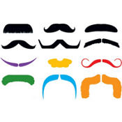 Mustache Finger Tattoo 1 Sheet