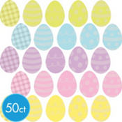 Easter Egg Cutouts 2 1/2in 50ct