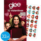 Glee Valentines Day Cards with Stickers 32ct