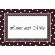 Damask & Polka Dot Custom Thank You Note