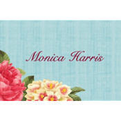Blissful Blooms Custom Thank You Note