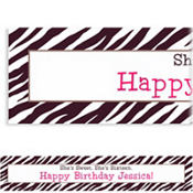 Zebra Custom Banner 6ft