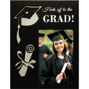 Reflective Graduation Photo Frame 7in x 9in