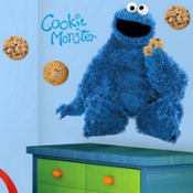 Sesame Street Cookie Monster Wall Decals 34in