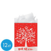 Small Glitter Holiday Happening Gift Bags 5 1/2in 12ct