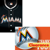 Miami Marlins Invitations and Thank You Notes 16ct